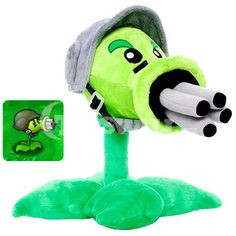 Plants vs Zombies Plush Toys,Gatling Pea PlushToys -12In [TW00407] - $37.90 : Toyswill.com, online shopping assortment of plush toys for grown-ups with angry birds,plants VS zombies,animation plush toys,popular plush toys and creative plush toys and more.