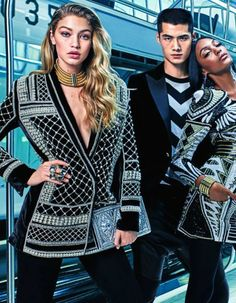 First Look! The Balmain x H&M ad campaign featuring Gigi Hadid, Kendall Jenner, and Jourdan Dunn