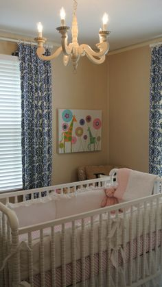 Same layout I want! Ann Ramsay's Nursery: a soft and eclectic nursery space with a touch of adult decor featuring our DaVinci Jenny Lind Crib <3