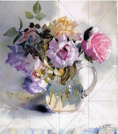 Geoffrey Wynne Acuarelas - Watercolours: ROSAS, ACUARELA PASO A PASO - ROSES, STEP BY STEP WATERCOLOUR