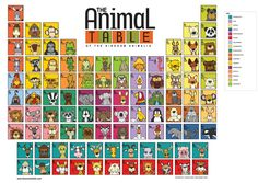 Angry Squirrel Shop — The Animal Table of the Kingdom Animalia Poster. Puts almost 100 animals in order by kingdom.