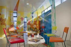 Coca – Cola Training Room Cheerful Interior Design in Mexico by Studio ROW (8)