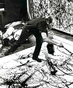 Jackson Pollock Photo Dancing and Painting Portrait