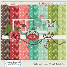 Blue Heart Scraps has a new Welcome Wagon free kit up at GingerScraps! A sweet Add-On with colors matching the Summer scene.  Hop on over the GingerScraps Forum to pick up 'Whoo Loves You?' for free! http://forums.gingerscraps.net/showthread.php?23020-With-Love-From-Blue-Heart-Scraps. 17/08/2013