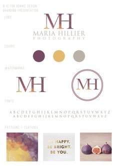 elegant logo design for Maria Hillier Photography | by b is for bonnie design