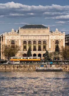 Budapest Hungary , Vigado Concert Hall,Tram 2, Travel Photography