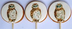 How to paint an owl cookie. via http://amelieshouse.blogspot.com/2011/09/how-to-paint-owl-cookie.html#
