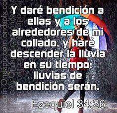 Preparate a recibir la lluvia de Bendiciones que Dios tiene para ti... #Dios es fiel...