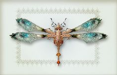 Would make a beautiful broach pin.  Victorian Mechanical Bugs - Whale Man