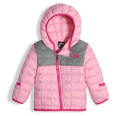 The North Face Infant ThermoBall Hoodie - 0-3M - Lilac Sachet Pink