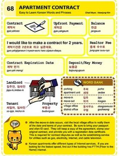 Learning Korean - Apartment Contract