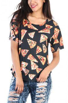 Pizza Print Top