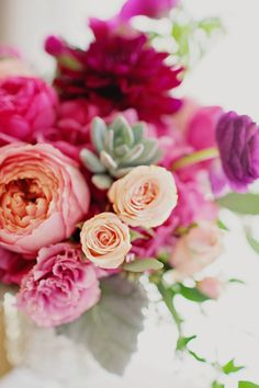 Beautiful pink flower arrangement repined by Sandra's  Donath's Florist in #NYC
