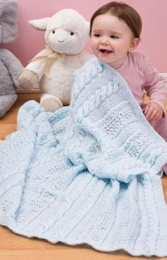 Heavenly Baby Blanket free pattern from red heart