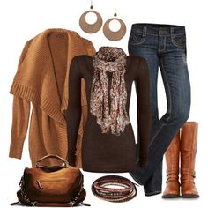 """""""Caramel Mocha Casual"""" by smores1165 on Polyvore"""