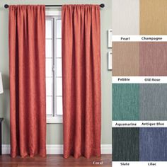 Stephano Rod Pocket 108-inch Panel    really like this in coral ... more gentle for the chocolate brown in living room