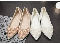 2016 Crystal Shoes For Wedding Comfortable Wedding Shoes Bridesmaid Shoes White/Ecru White Wedding Shoes Flats Outdoor Shoes Party Shoes Mother Of The Bride Wedding Shoes My Wedding Shoes From Gonewithwind, $60.31| Dhgate.Com