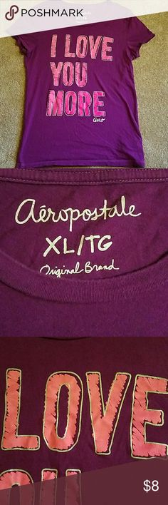 LOVE YOU MORE TEE Very nice used condition.  Bundle up and save Aeropostale Tops Tees - Short Sleeve