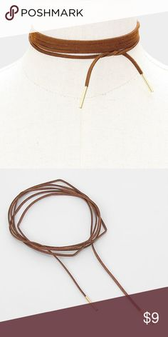 """Tie Wrap Choker Necklace • Necklace Size : 70"""" L • Adjustable • Long faux suede tie wrap choker necklace Jewelry Necklaces"""