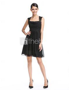 2017 ts couture® Cocktailparty Kleid a-line Platz kurz / Mini-Chiffon / Spitze mit Spitze / ruching 2016 - €68.59