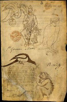 Le carnet de Villard de Honnecourt (vers 1220-1230), fol. 1 - Paris, Bibliothèque nationale de France, Département des manuscrits, Français 19093