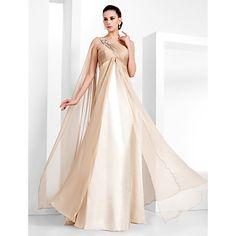 gaine / colonne d'un étage longueur robe de soirée en mousseline de soie de l'épaule (466840) – USD $ 89.99