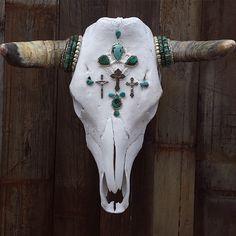♰♱✝ Turquoise Redemptions Cow Skull ♰♱✝  www.childofwild.com