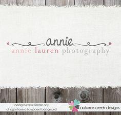 Hand Drawn Premade Logo Design with Swirls  - Swirl Photography Photographers Shop Logo Watermark Design