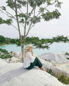 "Kaolin Lake - Belitung Island, Indonesia. 912 Likes, 7 Comments - Hijab Cetar (@hijabcetarz) on Instagram: ""- Inspired by @restikamaulidya"""