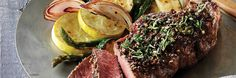 Tuscan Style Steak with Red Wine Peppercorn Sauce (Fresh Flavors April '15) Recipe | Gourmet Recipes | The Fresh Market