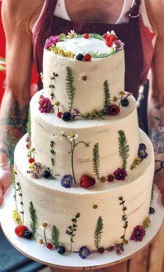 wedding cakes designs The Prettiest amp; Unique Wedding Cakes W. wedding cakes designs The Prettiest amp; Unique Wedding Cakes Weve Ever Seen – F Black Wedding Cakes, Wedding Cakes With Cupcakes, Elegant Wedding Cakes, Wedding Cake Designs, Cupcake Cakes, Wedding Themes, Wedding Colors, Wedding Ideas, Colourful Wedding Cake