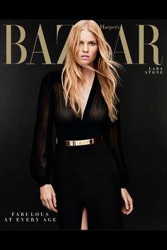 Lara Stone - Harper's Bazaar, US April 2014