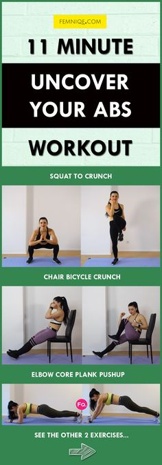 Want to shape up your midsection? Start doing this small waist and flat stomach workout. No gym or equipment needed.  It's only 11 minutes and hits every single part of your abdominal region while increasing calorie burn!