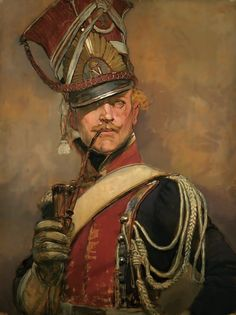 Portrait of a Polish Lancer- by Edouard Detaille
