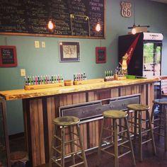 Waxy's Vape Shop tasting bar.
