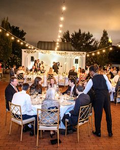 A Seated Dinner For 125 Was Served On The Terrace After Wedding Ceremony