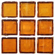 Mineral Tiles - Recycled Glass Tile Clear Amber 1x1, $12.95 (http://www.mineraltiles.com/recycled-glass-tile-clear-amber-1x1/)