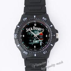 Jack-Daniels Custom Black plastic high quality watch