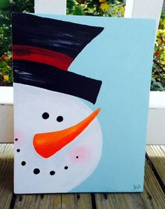 Snowman Christmas Wooden Sign by SouthernEtiquette on Etsy