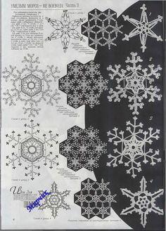 "Photo from album ""Дуплет on Yandex. Irish Crochet Patterns, Crochet Snowflake Pattern, Crochet Stars, Crochet Snowflakes, Crochet Diagram, Crochet Motif, Crochet Flowers, Crochet Christmas Ornaments, Christmas Snowflakes"
