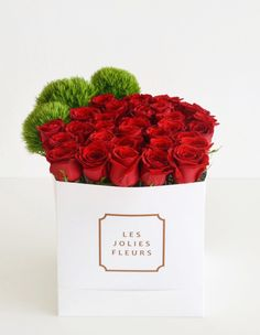 Flower box   Red roses in a box