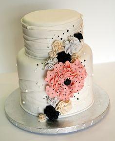 Vintage flowers birthday cake
