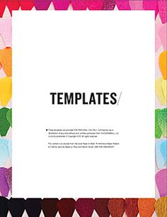 Paper to Petal Templates - Rebecca Thuss Museum Exhibition Design, Diy Stuff, Girl Scouts, Pretty Flowers, Teacher Gifts, Paper Flowers, Diy And Crafts, Diys, Whimsical