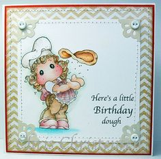 Magnolia Pizza Tilda Birthday Card by AScrappersBoutique on Etsy