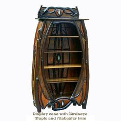 Nouveau Rustic Book Or Display Case custom made by Steven Shroder's Nouveau Rustic Furniture