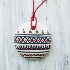Medalioane « Categorii de Produse « Mărgelușa Clay, Hand Painted, Christmas Ornaments, Holiday Decor, Handmade, Necklaces, Home Decor, Clays, Hand Made