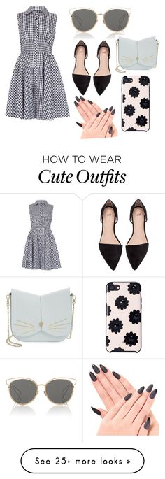 """""""Cute outfit for a sunny day"""" by galaxyavia on Polyvore featuring Izabel London, Christian Dior, Ted Baker and Kate Spade"""