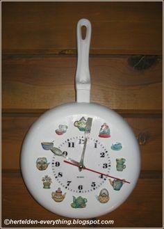 I made wall clock with frying pan - TEYZEM İÇİN HAZIRLADIM. (Gülsüm'den)-HER TELDEN-EVERYTHING