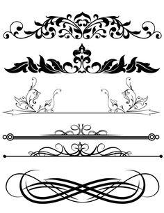 15 Design Clipart Mix Frames Scroll Divider by graficaitalia Mehndi Designs, Art Designs, Collage Sheet, Collage Art, Pinstriping Designs, Border Design, Design Design, Logo Design, Graphic Design
