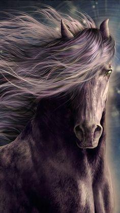 Horse art, horse painting like a dream. Amazing beauty.